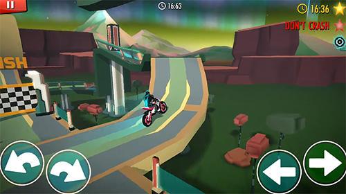 Arcade-Spiele Rider: Space bike racing game online für das Smartphone