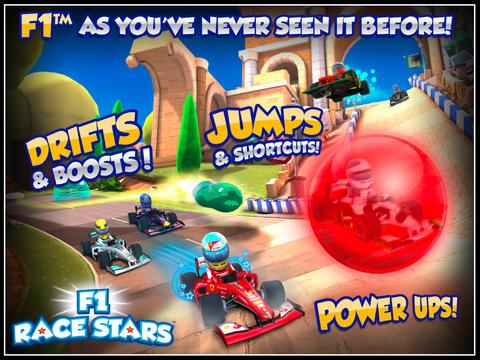 Screenshot Formel 1 Rennstars auf dem iPhone