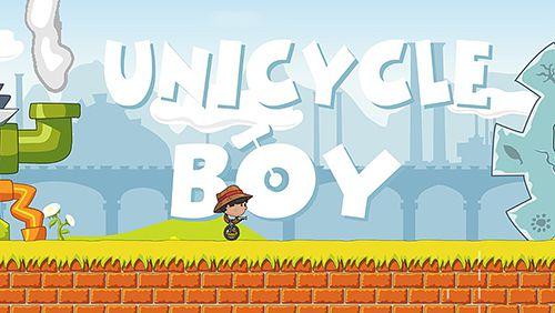 логотип Мальчик на одноколесном велосипеде