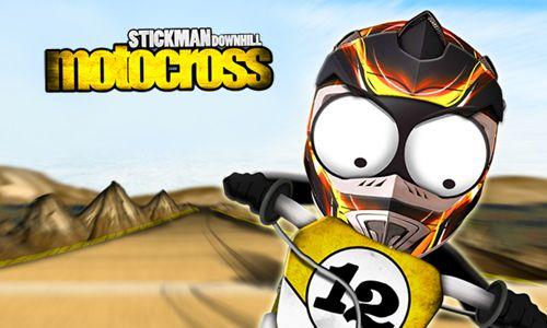 logo Le Motocross de montagne avec le Stickman