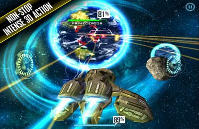 Screenshot 3D Weltraum Shooter auf dem iPhone