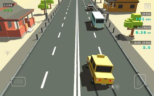Rennspiele Blocky traffic racer für das Smartphone