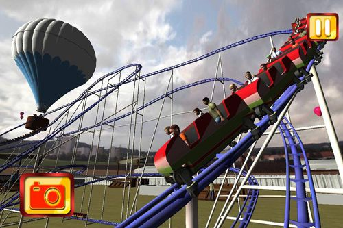Screenshot Simulate extreme roller coaster on iPhone