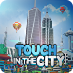 City growing: Touch in the city Symbol