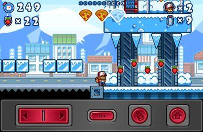 Captura de tela Na perseguição de pizza no iPhone