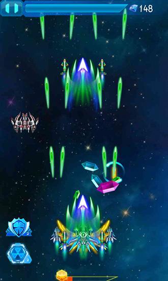Flugspiele Galaxy fighters: Fighters war auf Deutsch