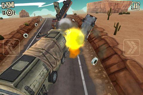 Screenshot Verrückter Straßen Fahrer auf dem iPhone