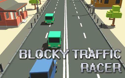 Blocky traffic racer Screenshot