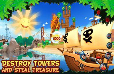 Screenshot Piraten Ballergame auf dem iPhone