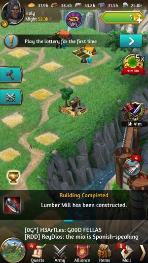 Online games March of empires for smartphone