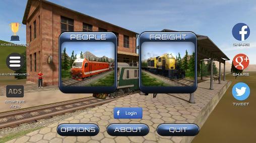 Simulator-Spiele Train sim 15 für das Smartphone