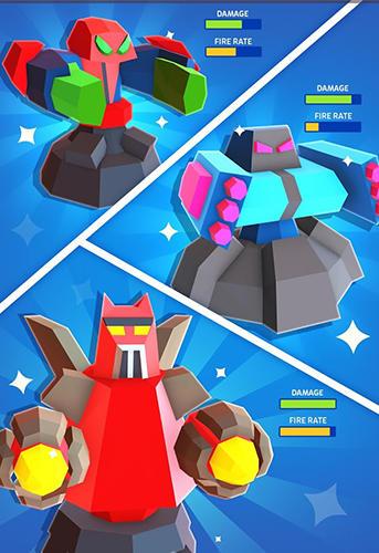 Arcade-Spiele Merge tower bots für das Smartphone