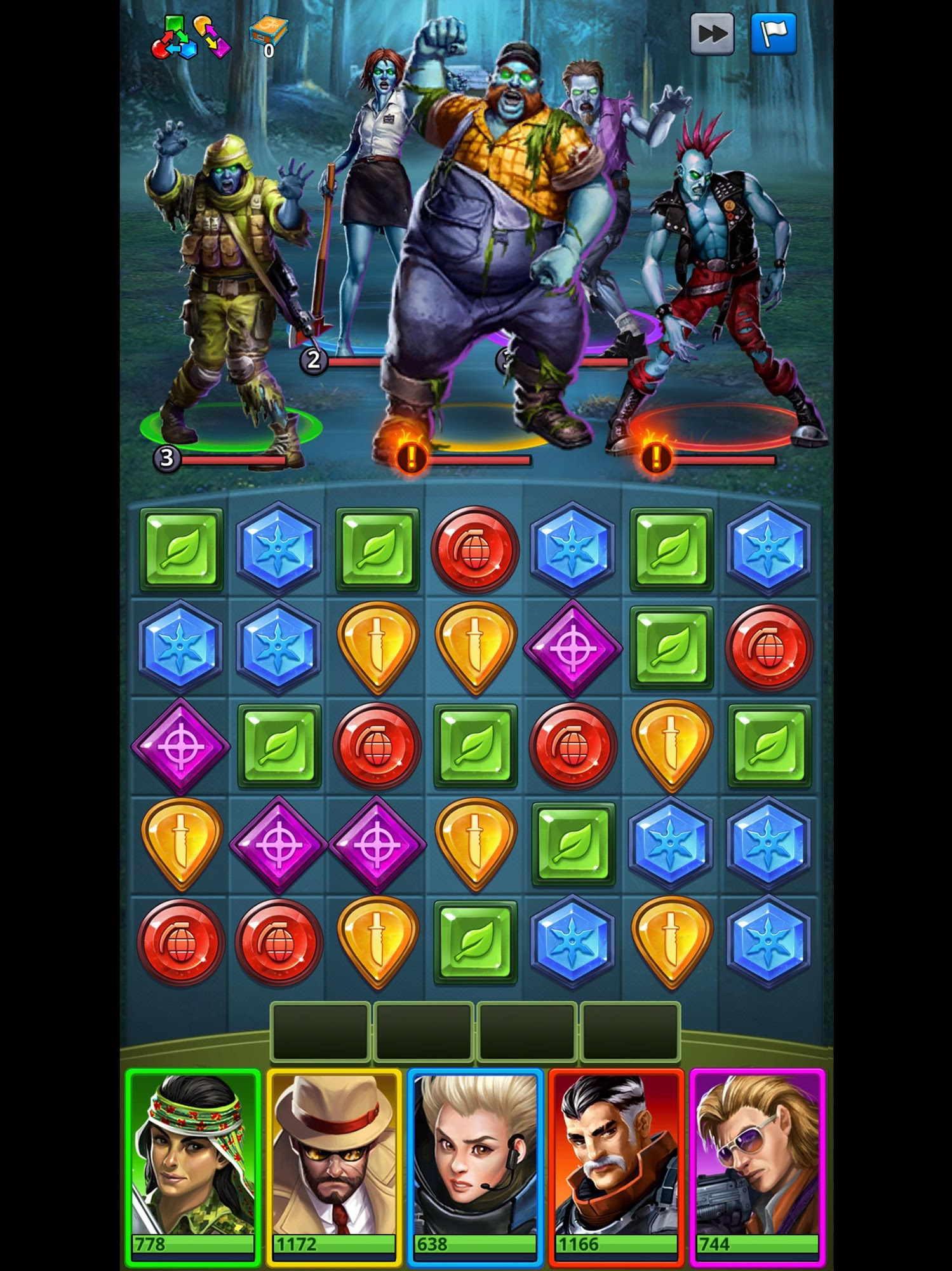 Puzzle Combat: Tactical Matching Action RPG pour Android