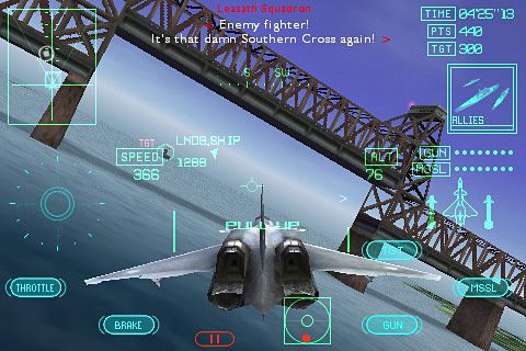 Ace combat Xi: Skies of incursion for iPhone for free