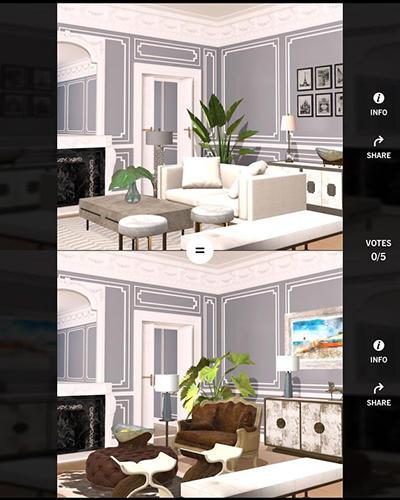 Simulator-Spiele Design home für das Smartphone
