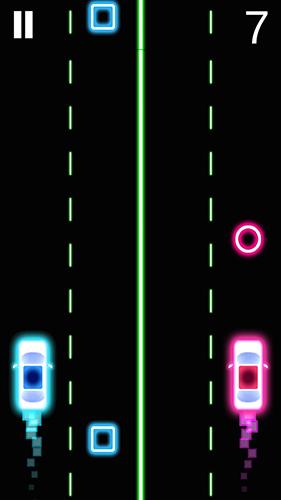Arcade Neon 2 cars racing für das Smartphone