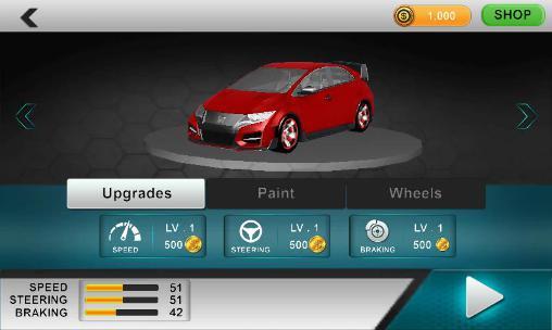 Rennspiele Modern car driver 3D für das Smartphone