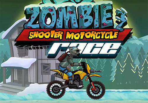 Zombie shooter motorcycle race Symbol