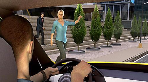 Simulation New York taxi driving sim 3D für das Smartphone