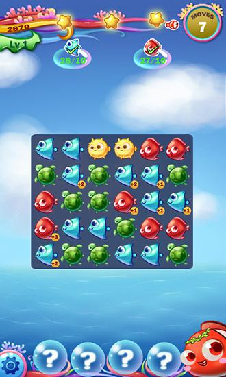 3 Gewinnt-Spiele Fish smasher auf Deutsch