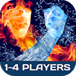 Battle games collection: 2-4 players battle party Symbol