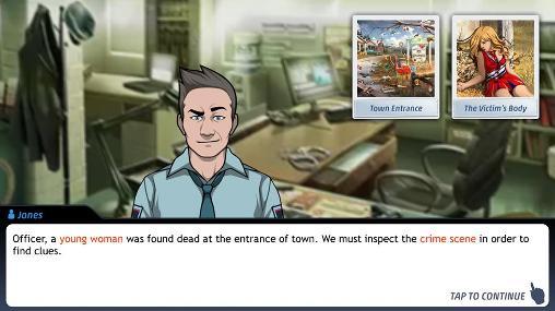 Abenteuer-Spiele Criminal case für das Smartphone