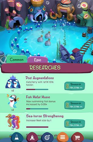 Arcade Tiny sharks idle clicker für das Smartphone