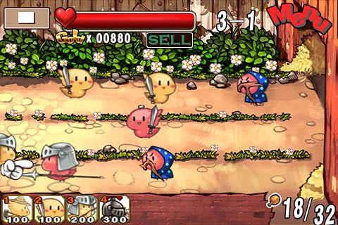Screenshot Hühner Kampf auf dem iPhone