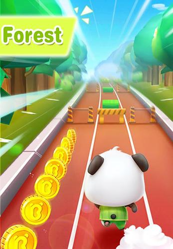 Arcade-Spiele Little panda run für das Smartphone