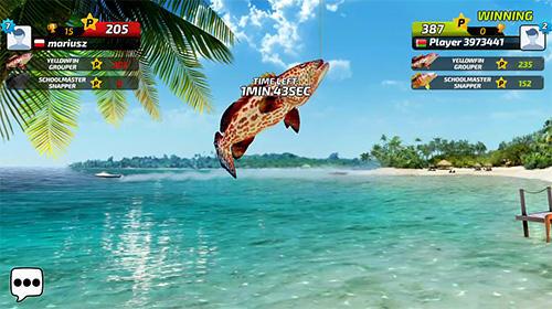 Fishing clash: Catching fish game. Hunting fish 3D captura de tela 1