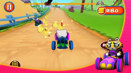 Rennspiele Jungle: Kart racing für das Smartphone