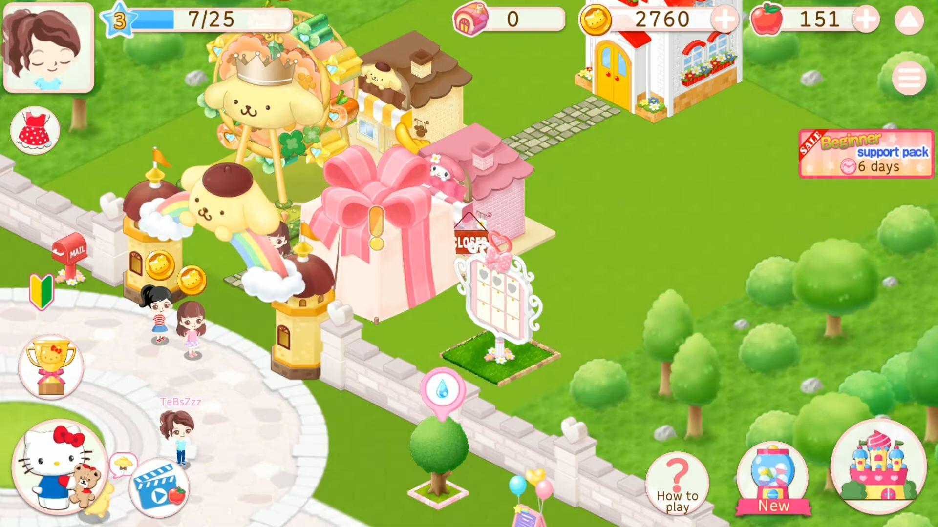 Hello Kitty World 2 Sanrio Kawaii Theme Park Game pour Android