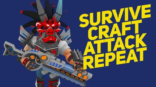 Survive. Craft. Attack. Repeat captura de tela 1