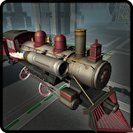 Flying train simulator 3D Symbol