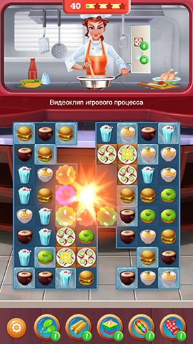 Match 3 games Superstar chef in English