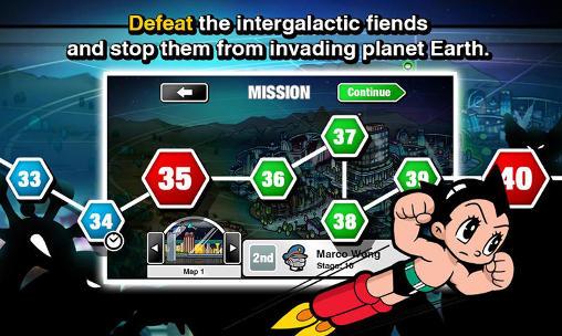 Arcade-Spiele Astro boy siege: Alien attack für das Smartphone