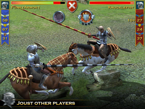 Screenshot Angriff der Ritter auf dem iPhone