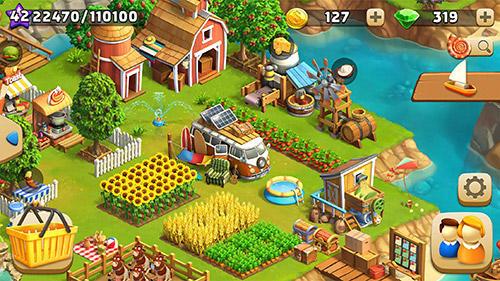 Funky bay: Farm and adventure game auf Deutsch