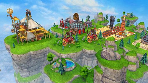 Online-Strategiespiele Sky clash: Lords of clans 3D auf Deutsch