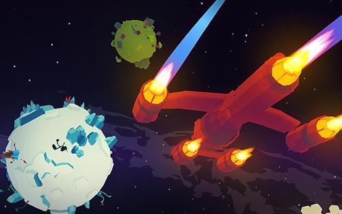Shooter aus der Vogelperspekti Space pioneer: Shoot, build and rule the galaxy auf Deutsch