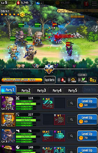 Strategie RPG Idle knights auf Deutsch