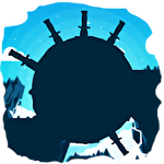 Knife hit planet dash: Flip attack icon