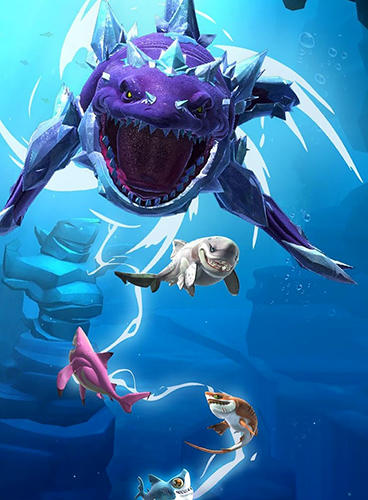 Simulation Hungry shark: Heroes for smartphone