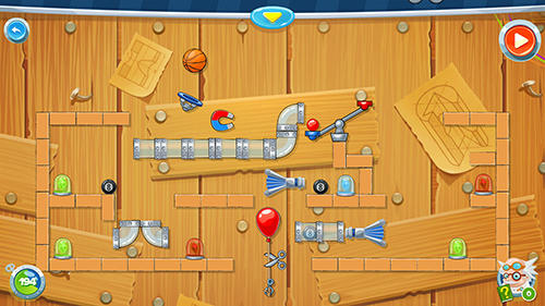 Puzzle games Rube's lab in English
