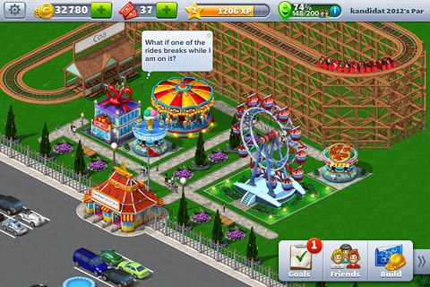 Komplett saubere Version Rollercoaster Tycoon 4: Mobile ohne Mods Strategiespiele