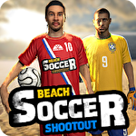 Beach soccer shootout Symbol