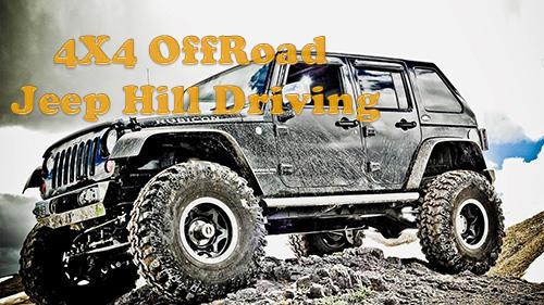 4x4 offroad jeep hill driving icono