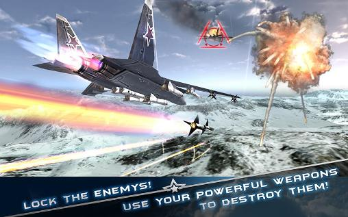 Flugzeuge Jet fighters: Modern air combat 3D auf Deutsch