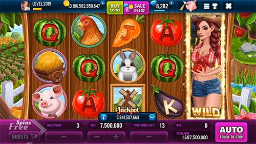 Glücksspiel Farm and gold slot machine: Huge jackpot slots game für das Smartphone
