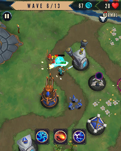 Strategie Heroes and havoc TD: Tower defense für das Smartphone
